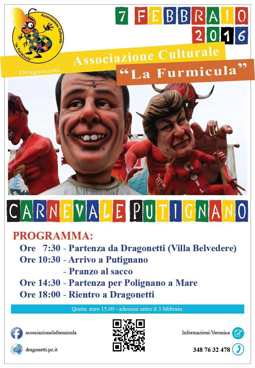 Viaggio al carnevale di Putignano